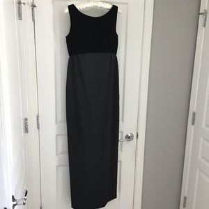 Black dress gown formal with velvet bodice